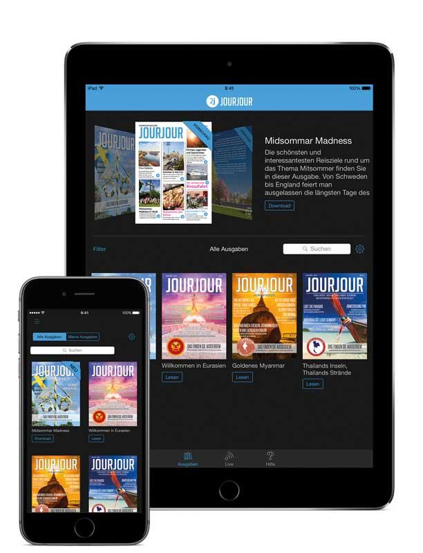 App Startscreen alles auf einem Blick