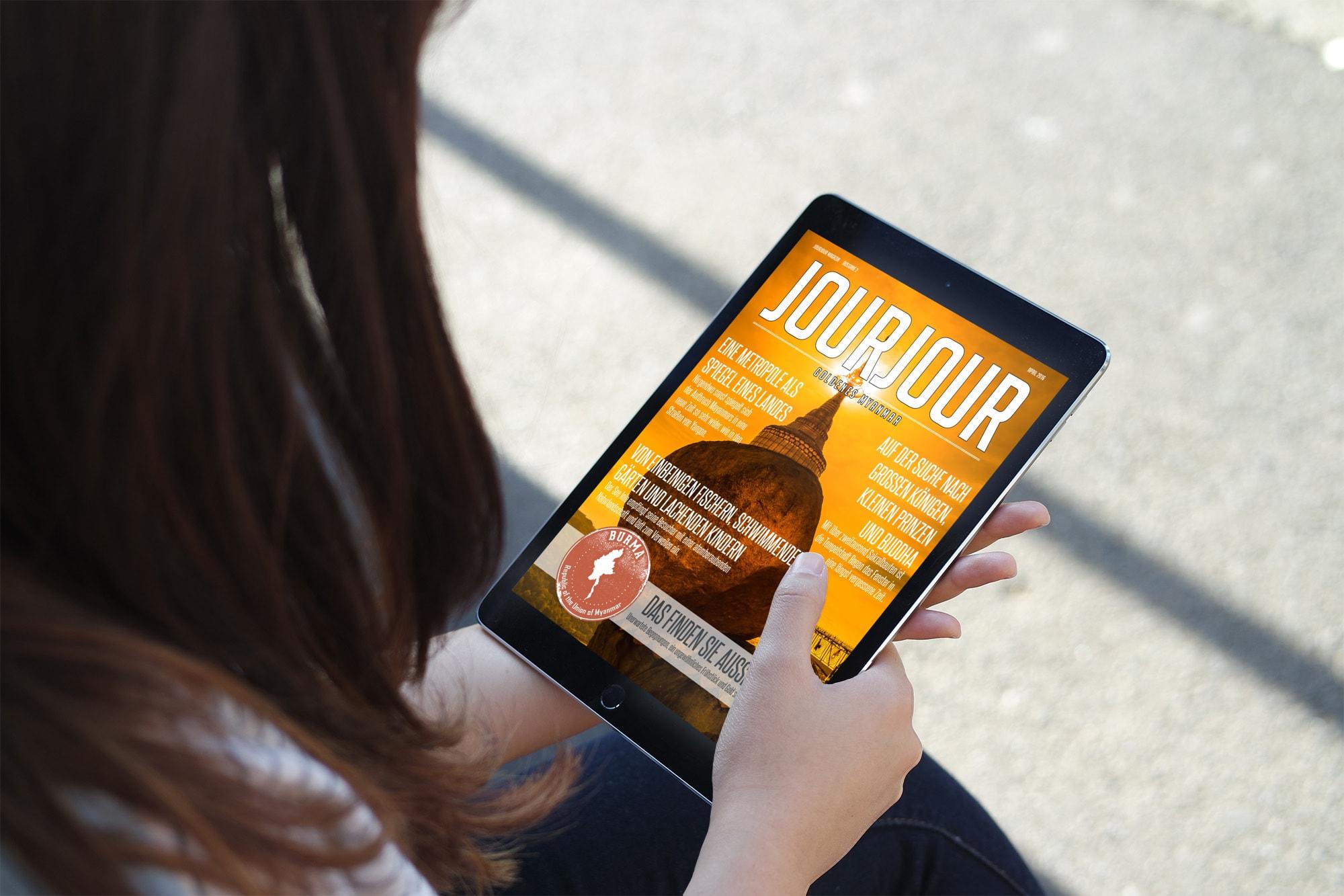 Gold so weit das Auge reicht – die neue Aprilausgabe des JOURJOUR Magazins