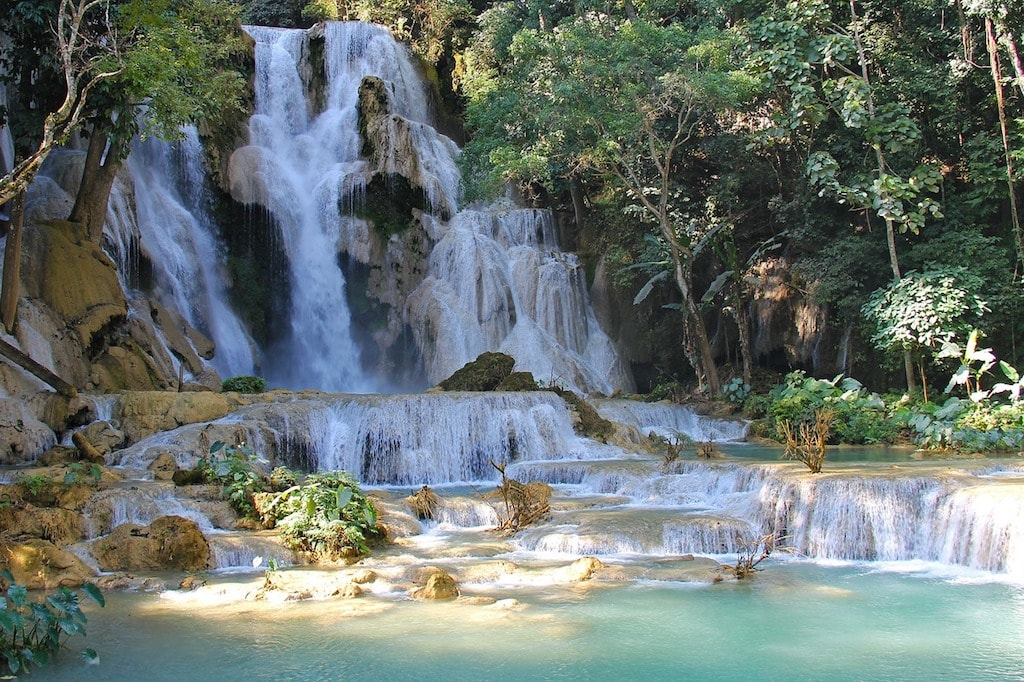 Der Kuang si Wasserfall in Laos